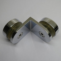 90 Degree Chrome Glass Clamp Hardware