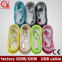 wholesale popular color fast speed nylon braided 2.0 usb otg cable for apple