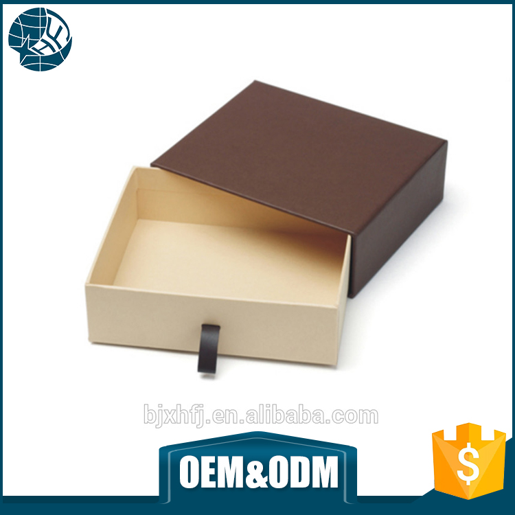 XHFJ Eco custom made newly cardboard kraft paper sliding gift box paper folding gift box