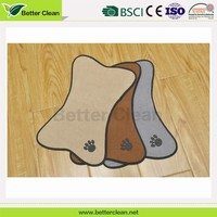 high quality embroidery bowl floor keep clean disposable pet mat