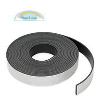 For Refrigerator Door Adhensive Flexible Rubber Magnet Strip/ Sticky Back Roll Fridge Magnet