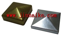 galvanized fence steel pyramid post cap,fence post cap
