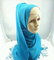 viscose solid color head sex arab scarf