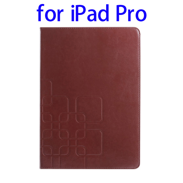 2015 New Products Embossed Pattern Leather for iPad Pro Tablet Case