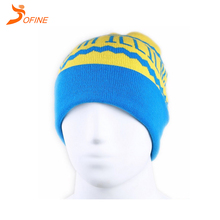 Wholesale winter outdoor sport Custom Knitted Logo Beanie Hat Knitted cap for men