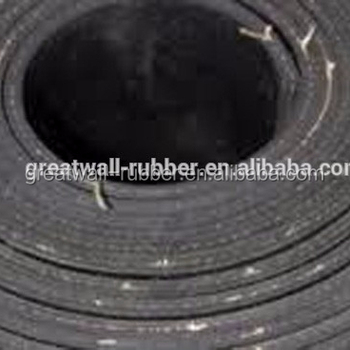 Black industrial insertion SBR NR Neoprene EPDM rubber sheet vulcanized rubber sheet with cotton insert