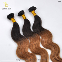 On Sale Unprocessed Factory Price Colored Two Tone Hair Weave