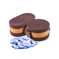 60 pieces candy packing towel in biscuit box compressed mini magic tissue coin towel