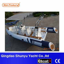 CE certificate rib580 rigid fiberglass hull inflatable yacht for sale