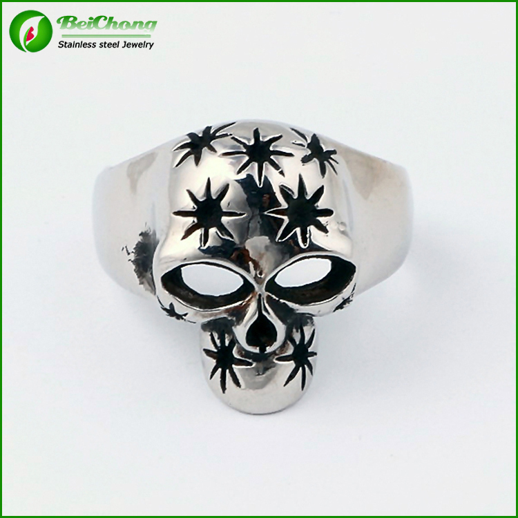 Hot New Stainless steel skull ring