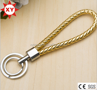 Colorful rope key rings bulk leather