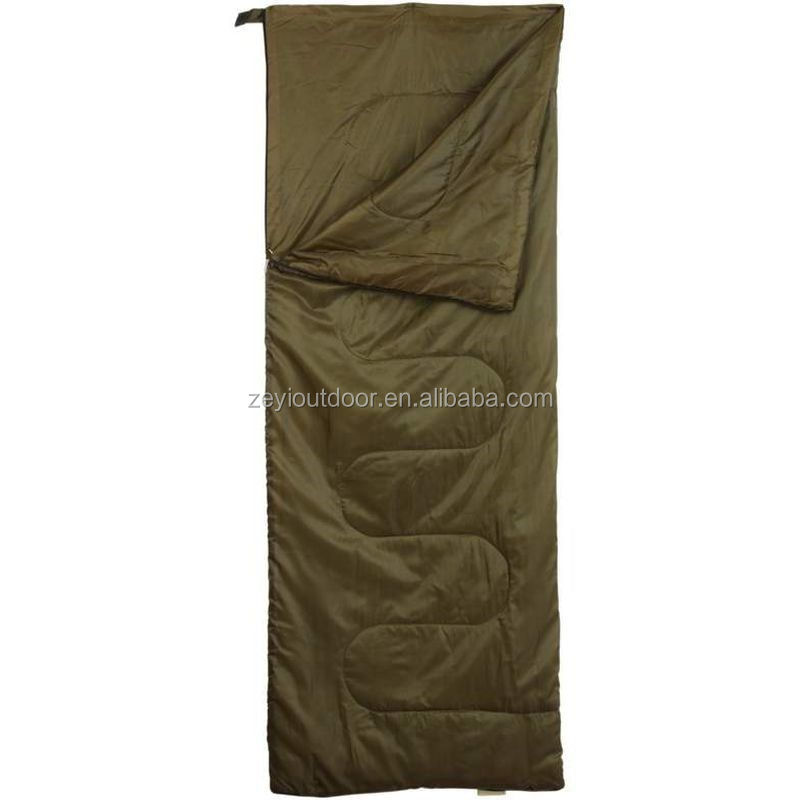 Outdoor Camping Sleeping Bag Olive Warm Weather Gear