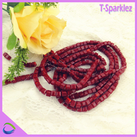 red wholesale crystal beads with hole for DIY making