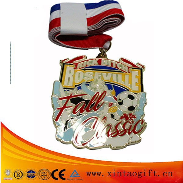 2015 New gifts metal medal with ribbon drap