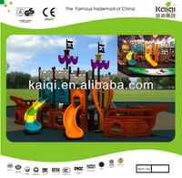 Children's Outdoor Play Ground Structure with Pirate Ship Theme Design for Sale