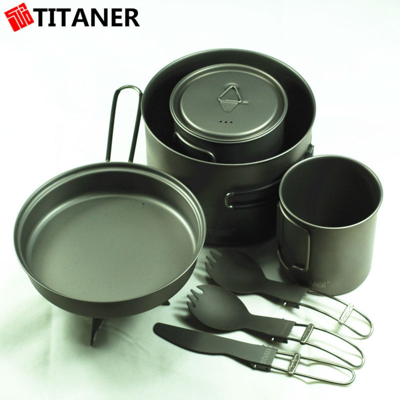 TITANER EDC titanium earthenware cookware pots and pan sets cookware sets reviews