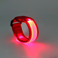 Hot Sale Glowing Bracelet with LED lights Flash Bracelet Wrist Ring Nocturnal Warnings Ring Running Gear Glowing Armband