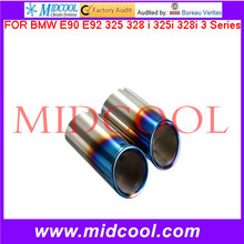 High Quality Bluing Muffler Exhaust Pipe Tip FOR BMW E90 E92 325 328 i 325i 328i 3 Series