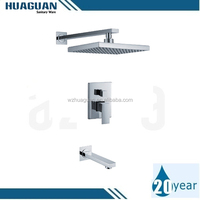 Brass concealed shower mixers faucets for bathroom