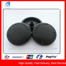 YX5579 Custom Black Matte Metal Round Top Snap Button