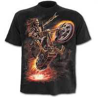mens Hell Rider t shirt gothic clothing factory wholesale