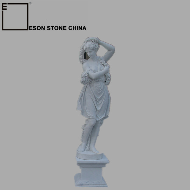 Eson Stone Sculpture Religious Figure Statue, White Marble Sculpture for church