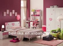 kids bedroom furniture set cheap Girls Bed/Bedroom Set of Glossy Style/ergonomic best children furniture 853#