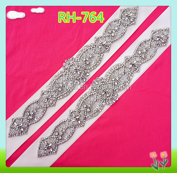 Fashional decorative embroidery setting crystal beads applique