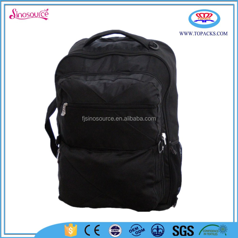 Wholesale new black eminent trolley backpack bag