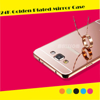Hot sale 24k golden plated mirror case for samsung s6/ s6 edge/ note 5/ note 4/S5/ S4/A7/A8