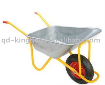 85L Galvanized Steel Garden Wheelbarrow WB6404H
