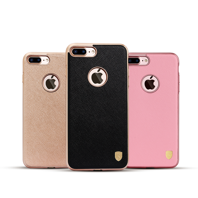 Customized Magnet Phone Back Cover Business Simple Design Soft TPU Leather Cases for Cellphone for iPhone 5