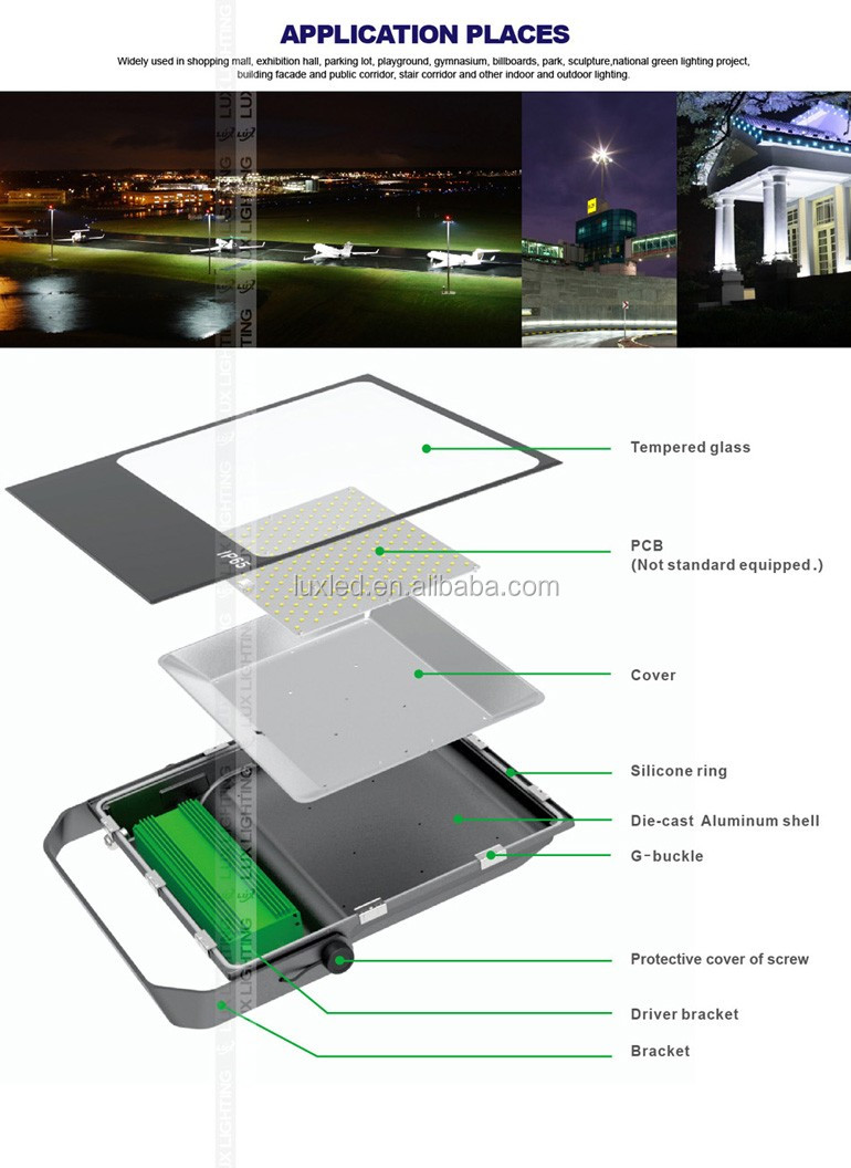 Ultral Slim floodlight 200W-300w -400w range