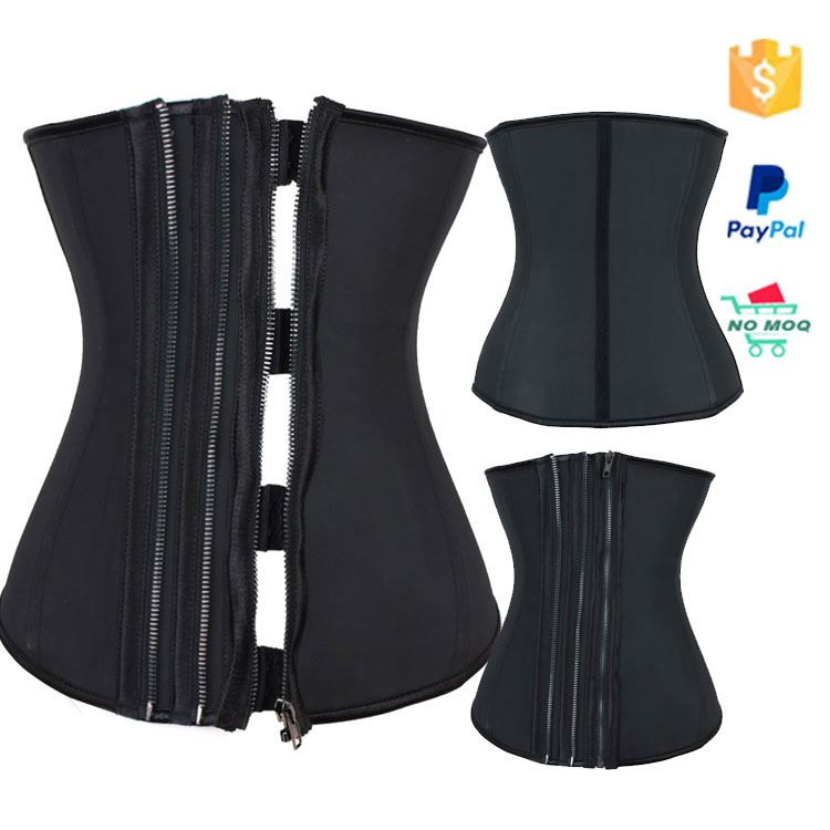 High Compression Clip Zip Sport Latex Waist Trainer Corsets