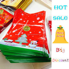 HOT SALE Cheapest Santa pants Felt Christmas gift 2015 plastic candy bags