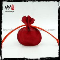 Plastic velvet drawstring jewelry pouch, jewelry pouch with flap, folding pouch bags for jewelry