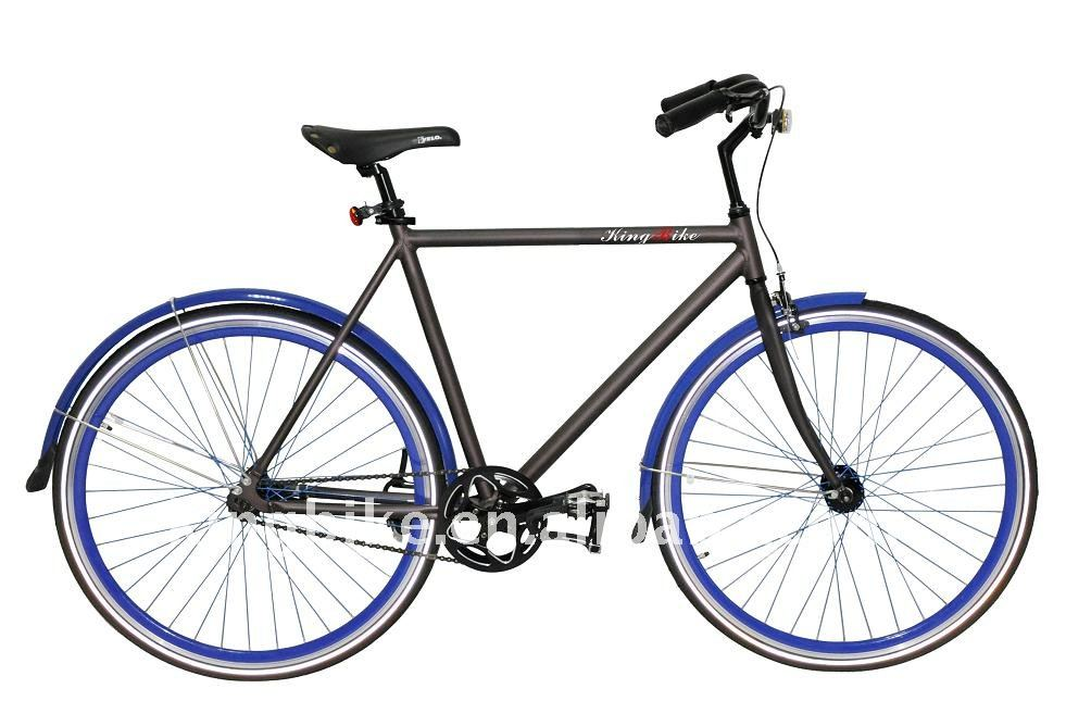 700C alloy Fixed gear bike with fenders and coaster brake