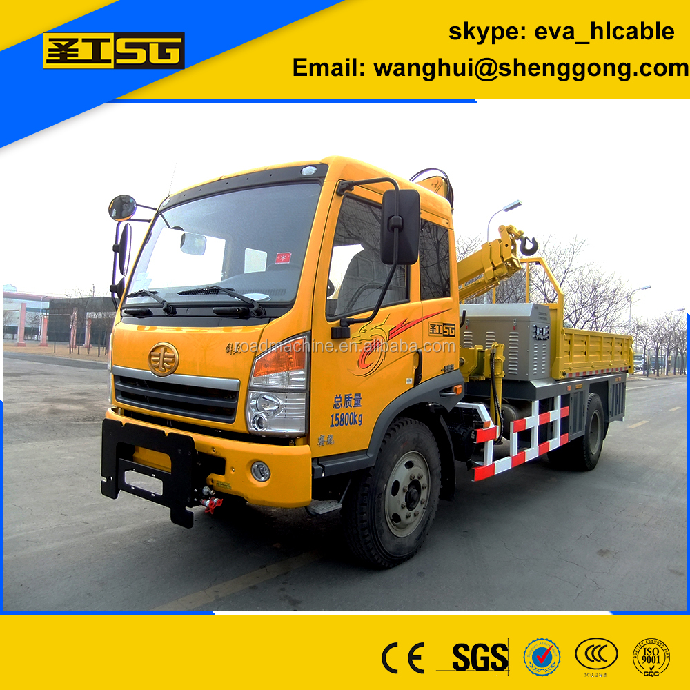 Road Construction Machine Synchronous Chip Sealer for Distributing Bitumen and Aggregates
