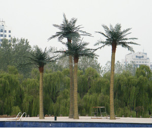 artificial palm tree fiberglass outdoor coconut tree sale fake tree