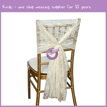 19773 wedding event wholesale cheap stock factory fancy white lace chair sashes