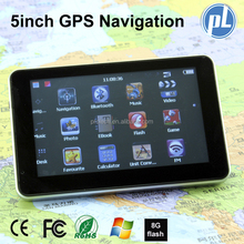 5inch GPS Navigation touch screen Windows CE 6.0 car gps navigation with FM gps navigator load Israel 3D free map