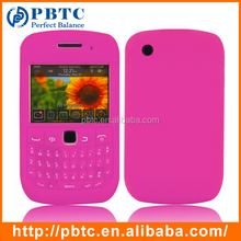 Set Screen Protector And Case For Blackberry 8520 , Roseo Silicon Soft Shell Case For Blackberry 9300