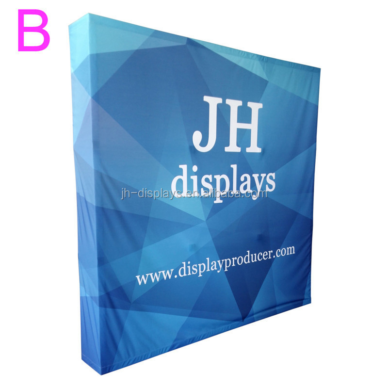 Velcro Pop Up Banner Display Fabric Backdrops For Wedding