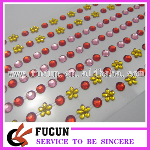 Decorative Rhinestone Stickers : Wholesale fancy rhinestone trimmings decorative