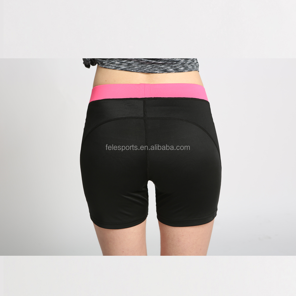Sexy black women compression tights fahion sports shorts