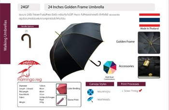 24 Inches Golden Frame Umbrella