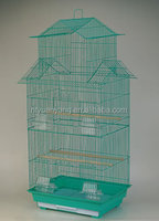 outdoor handmade plastic tray green color metal wire mesh animal cage bird cage