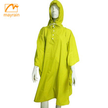 Polyester coated PVC wind, waterproof Promotion rain poncho