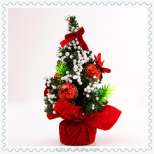Cheap 7.8 Inch Height Mini PVC Artificial Christmas Tree Set Christmas Table Counter Decoration