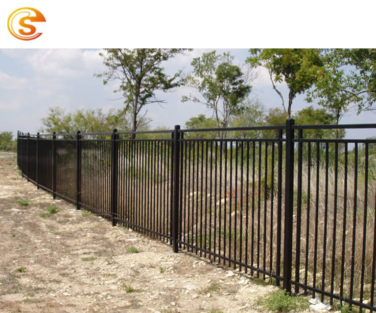 The courtyard aluminum fence decorative picket black fencing